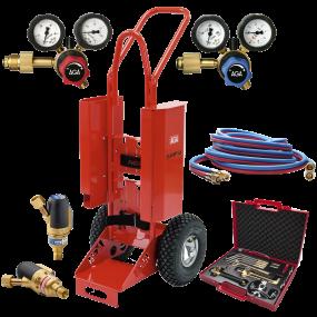 AGA Flame Kit flaskevogn 5/10 ltr., m/slange, regulator og værktøj