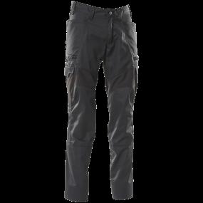 Bukser med lårlommer, strækstof-zoner Bu, ks 82C46 sort