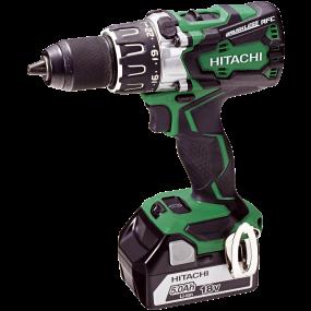 Hitachi Akku. Bore-/skruemaskine 18V, DS 18DBL2 incl. lader 2 x 5,0 Ah batt.