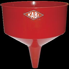 KABI PVC Tragt rød m/høj kant & si, KZ1315 220 mm