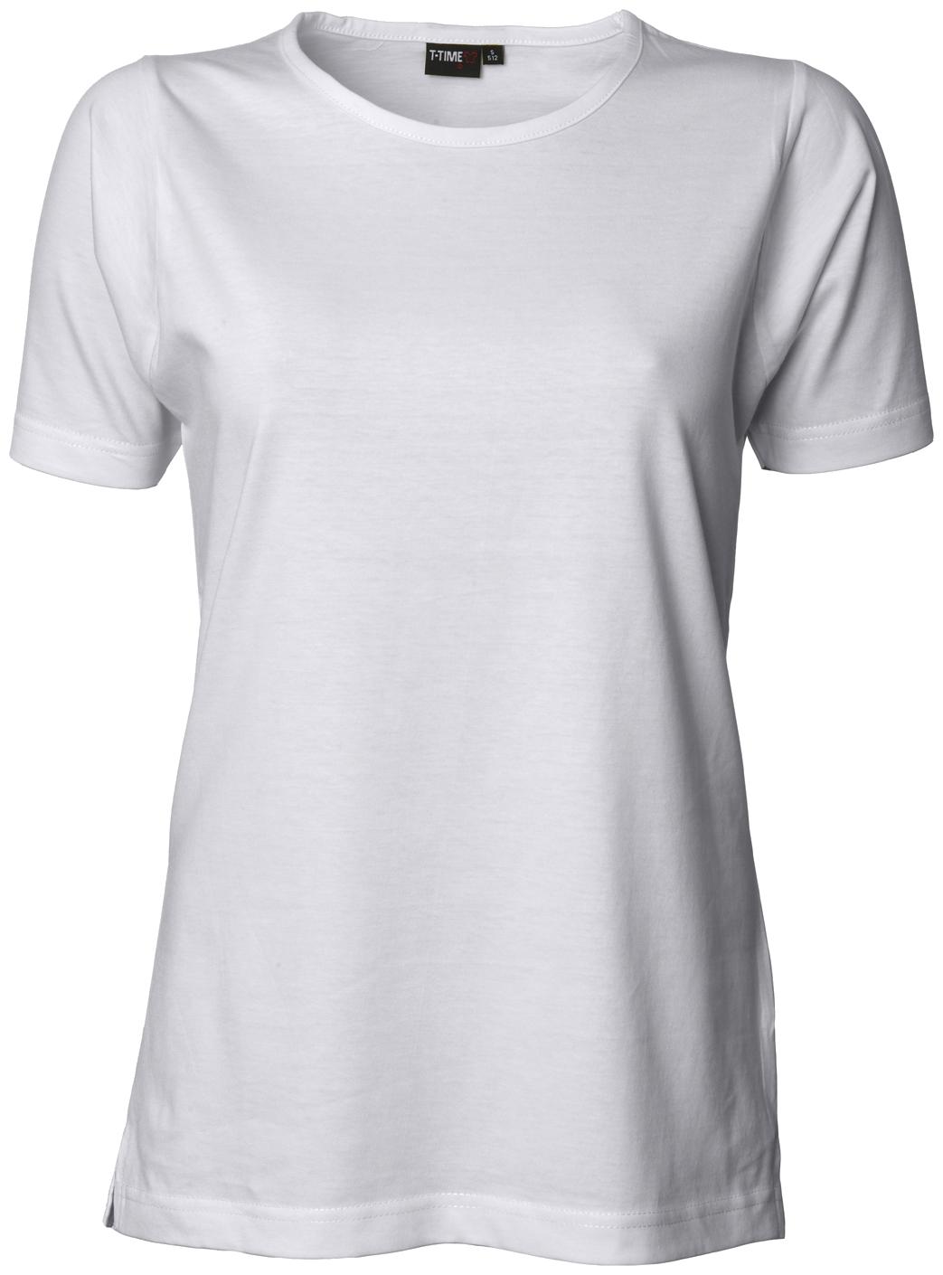Dame T Shirt Hvid Str. L, ID512 Hvid L T shirts ID