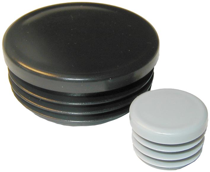 Dupsko rund sort f/ rør, Ø 25 mm. udv. mål på rør - Rund - Dupsko & fødder - Tekniske artikler ...