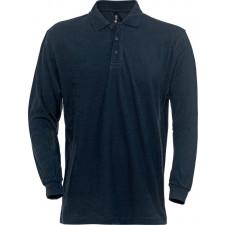 Acode Acode Poloshirt med lange ærmer, h, erre Mørk marine XL (gl. 1-1722-15)
