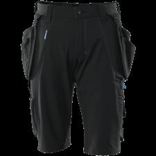 Shorts, aftagelige hængelommer,  stretch, Buks C58 sort