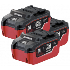 Metabo BASIC-SET 18 3X5,5 ASC 30-36 LIHD, Basis Set 5.5 Ah (3x 18V 5.5Ah, oplader)