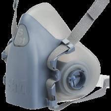 3M halvmaske model 7501 str. small, m/dobbelt bajonetfatning