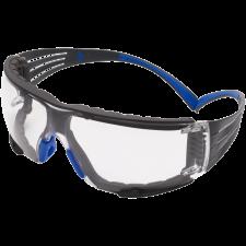 3M SecureFit 400 beskyttelsesbrille, Blå/grå stænger, foam, klar linse