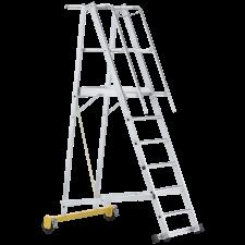 Zarges platformstige m/gelænder, 41207 10 trins H:2,60 meter