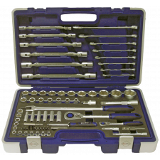 Bato Topnøgle/-Kombisæt 1/4+1/2+fastnøgl, er B-S1170 - 71 dele