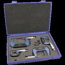 Diesella mikrometerskruer 0-100 mm, (sæt  4 stk.)