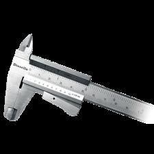 Diesella skydelære 0-150 mm, m/klemlås
