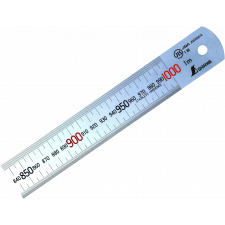 Stållineal Shinwa, 1000 x 35 x 1,5 mm