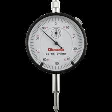 Diesella måleur 0 - 10 mm X 0,01, m/øje på bagplade