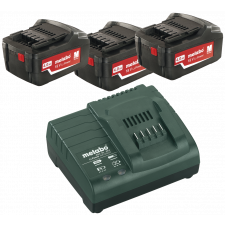 Metabo Batteripakke m.lader, Basis Set 4.0 Ah (3x 18V 4.0Ah, oplader)