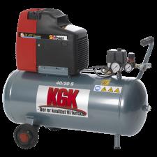 KGK kompressor 40/20S, 2,0Hk / 40L tank 190L/Timen