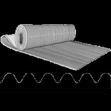 Måtte finriflet 5485, 3 mm grå (bredde 1200 mm)