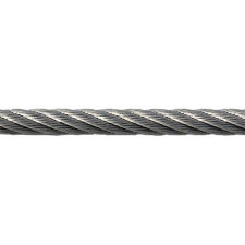 Rustfri stålwire 10 mm (7 x 19), (pr. mtr.)