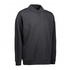 ID Polosweatshirt Klassisk, ID0601 Koks L